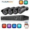 CCTV KIT - FLOUREON 8CH 1080P AHD DVR + 4x Outdoor 3000TVL 1080P 2.0MP Camera Security Kit