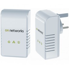 Twin pack ON NETWORKS PL200 200Mbps Ethernet Powerline Adapter Kit