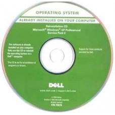 Microsoft Windows XP professional with SP2 OEM Recovery CD Disk for Dell